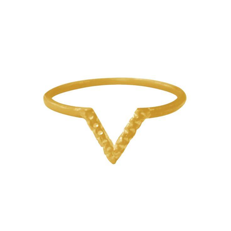 V Tinsel Ring Gold