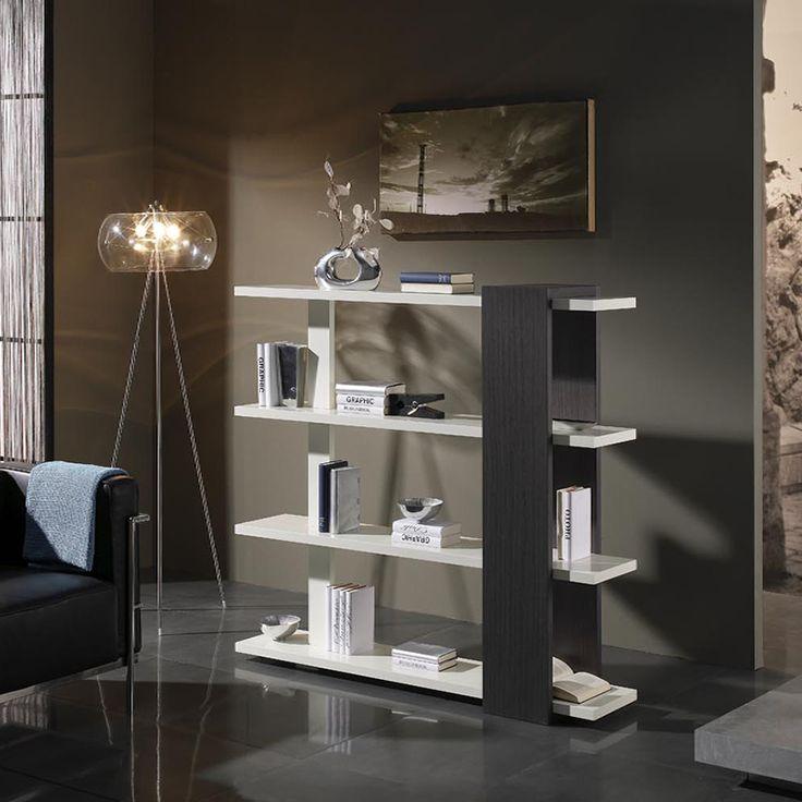 bibliothque blanc et weng moderne morry - Model Ede Salon Moderne Blanc