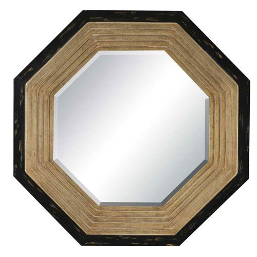 Gold/Black Finish Octagon Mirror Paragon Octagon Mirrors Home Decor