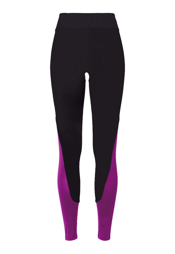 Panel Leggings - Caviar Black/Deep Lilac