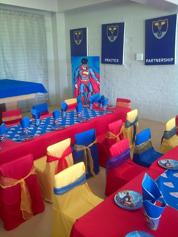 Superman Decor By Kids Themed Parties