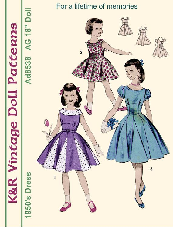 18 American Girl Vintage 1950's Dress by The2ndLifeMercantile