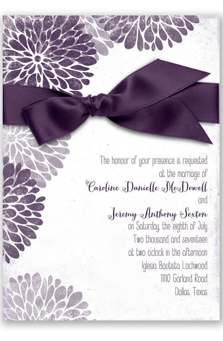 Burst of Colorful Love Wedding Invitation in Plum by David's Bridal