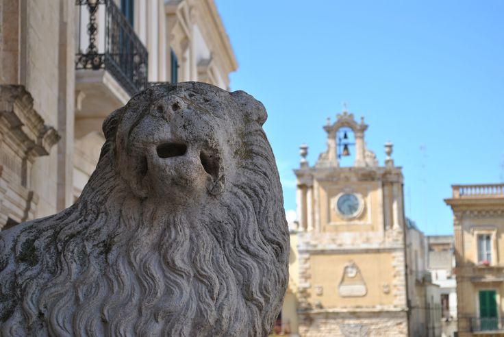 Cattedrale - Leoni stilofori, Acquaviva delle fonti