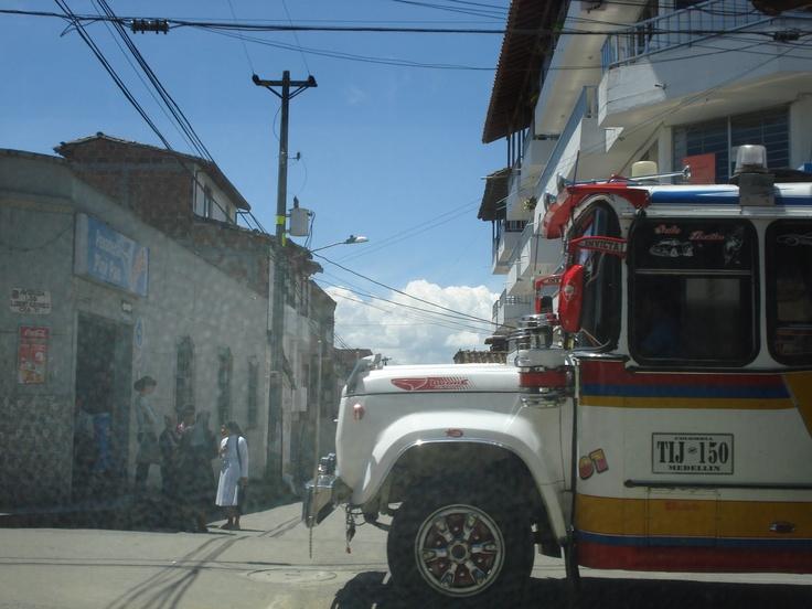 Colombia - local bus in Carmen del Viboral