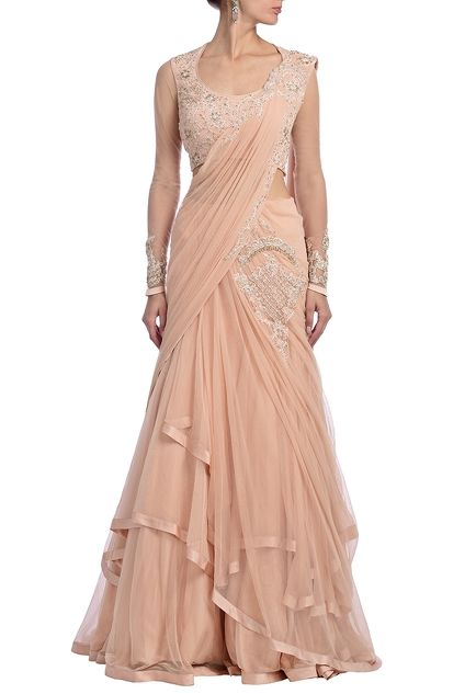 https://www.azafashions.com/products/blush-pink-embroidered-lehenga-sari/5352