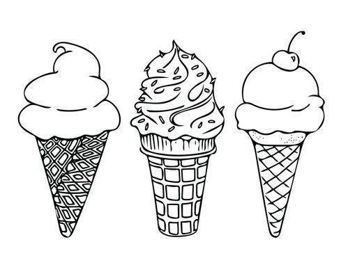 9 Ideas De Diseno De Tatuajes Imprimibles Hermosos E Impresionantes Tatowieren Diseno Hermo Ice Cream Coloring Pages Ice Cream Tattoo Printable Tattoos