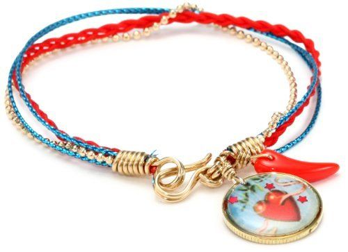 "Mercedes Salazar ""Multicharms"" Multi Cords Heart Charm Bracelet Mercedes Salazar. $36.00. Hand made. Multilayered. Made in Colombia"