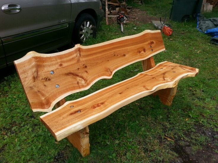 Live Edge Park Bench By John Mabry In 2019 Wooden Garden