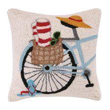 Summer Bike Hook Wool Throw Pillow
