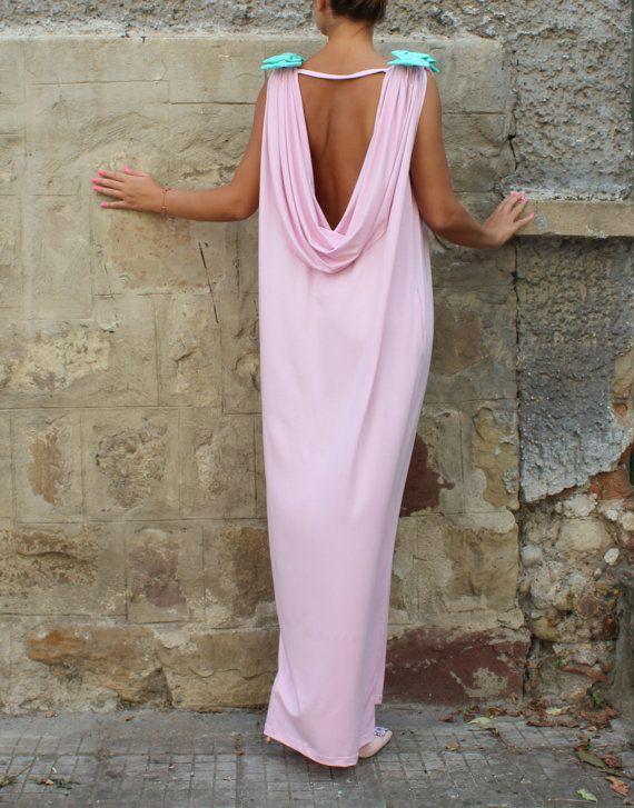 Pink Backless dress Maxi Dress Caftan от cherryblossomsdress