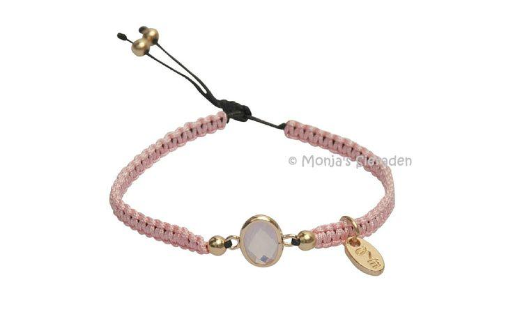 Dare to be fabulous armband Pink by Jozemiek. (JA030)