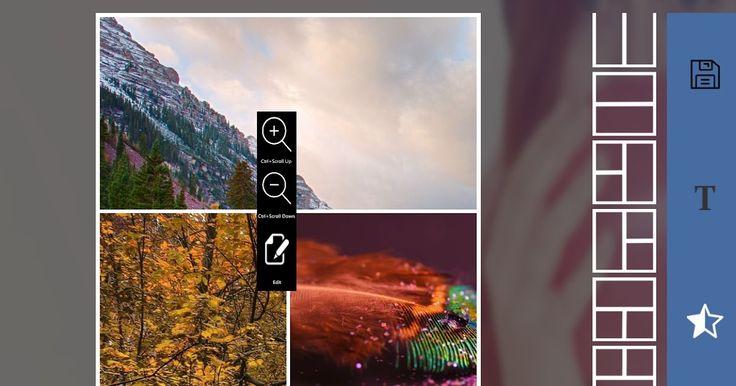 """Με τα νέα εφέ και πλαίσια διαθέτει όλα όσα χρειάζεστε για να δημιουργήσετε εκπληκτικά κολάζ με τις φωτογραφίες σας. Χρησιμοποιήστε το για να φτιάξετε τις τέλειες φωτογραφίες. Το Picture Collage Maker and Photo Editor είναι μια εύκολη στη χρήση εφαρμογής που σας επιτρέπει να συνδυάσετε τις αγαπημένες σας φωτογραφίες σε ένα δημιουργικό κολάζ για να τις μοιραστείτε με την οικογένεια και τους φίλους σας. Εισάγετε τις φωτογραφίες σας από το φάκελο """"Εικόνες"""".  Κάντε δεξί κλικ σε μια φωτογραφία για…"""