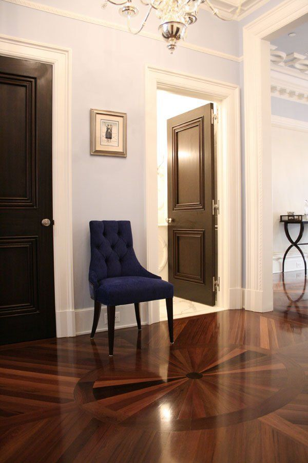 Parquet Flooring and Custom Medallions #Hardwood
