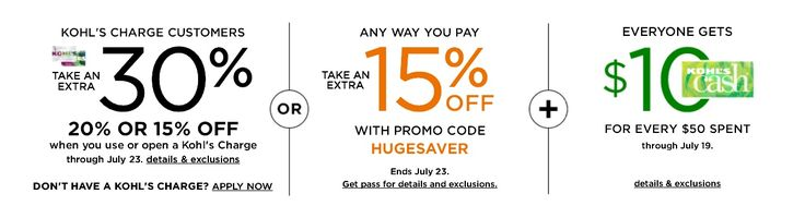 #kohls #kohls30 #kohlscoupons Receive Kohls 30% OFF Coupon Code foy you entire purchase at Kohls using coupon code BBQ30 at checkout plus Free Shipping. This offer is ends July 23, 2017. GET IT NOW. CLICK IT