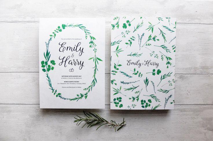 italy wedding invitation