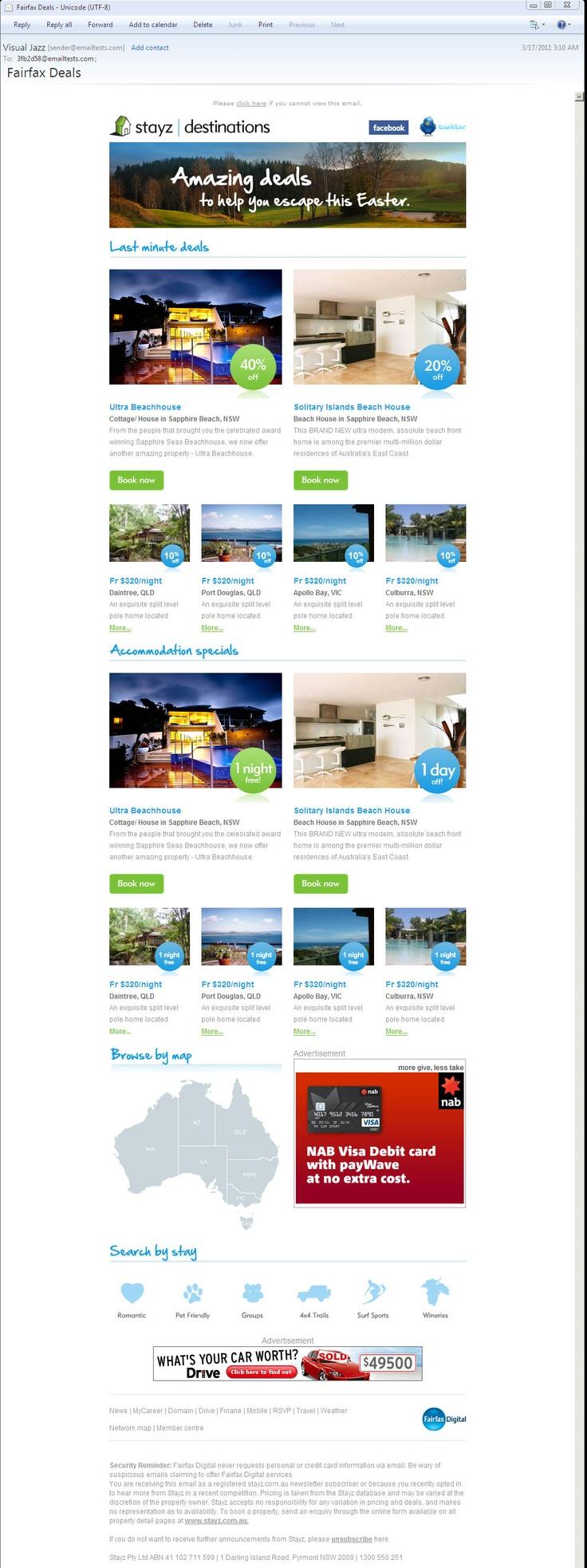 Various EDMs - http://ronaldjusuf.wordpress.com/2013/02/20/electronic-direct-marketing-edm/