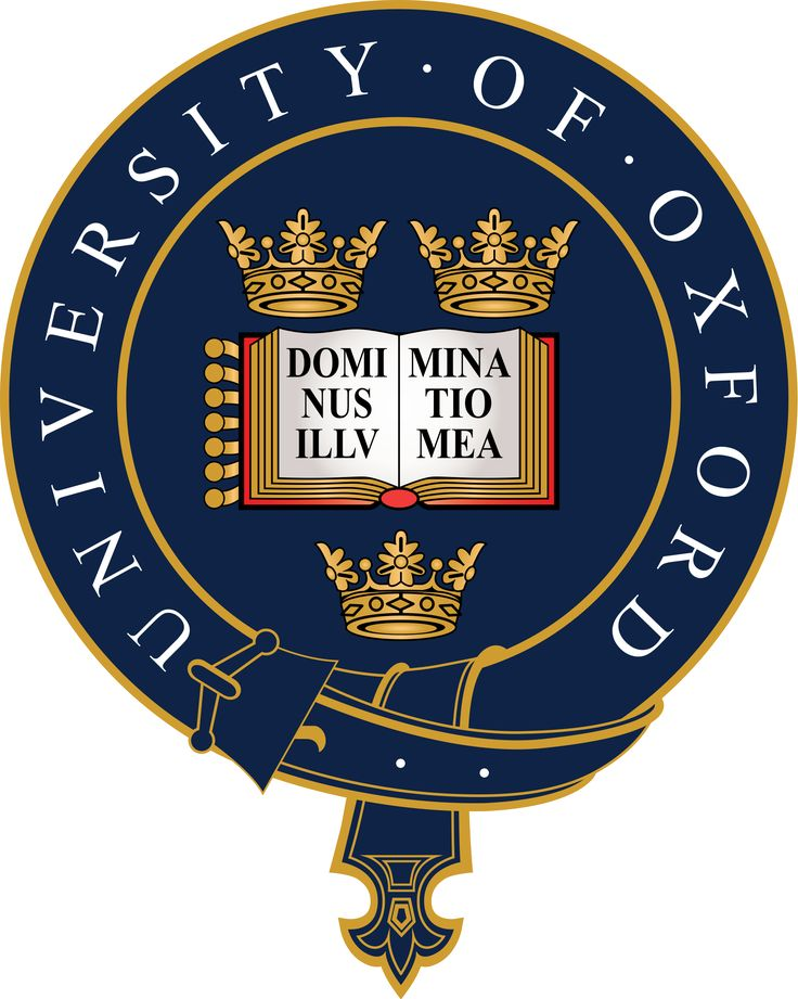 The crest of University of Oxford.