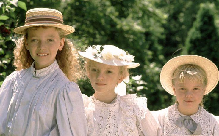 """Gema Zamprogna , Sarah Polley and Harmony Cramp, """"Road to Avonlea"""". (1990)"""