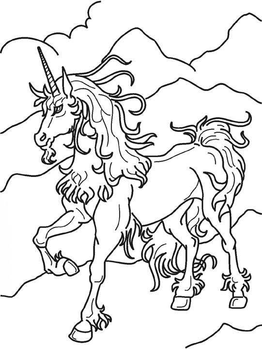Unicorn Running Coloring Pages To PrintFree