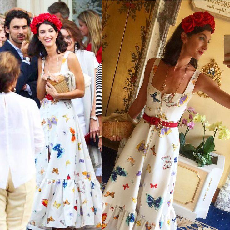 second half! ⚠️✨✨.. more me and @mattimattib in #ateliermartaferri #butterfly #print #oneofakind #dress with an amazing @piersatkinson #headpiece #creation ✌️❤️