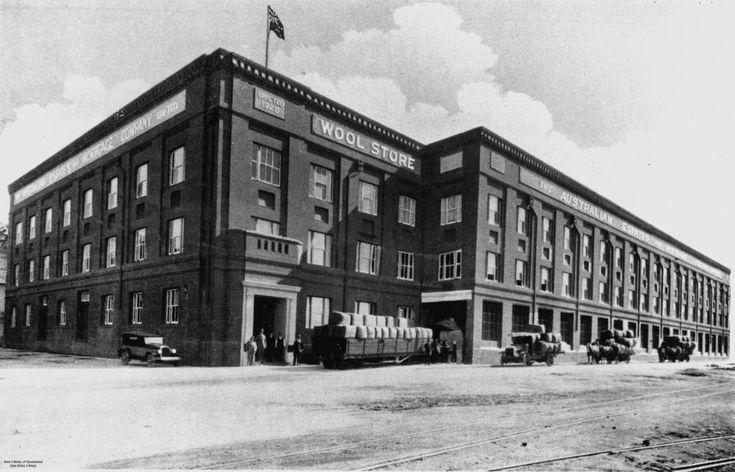 Woolstore building, Teneriffe, Brisbane, Queensland, 1928