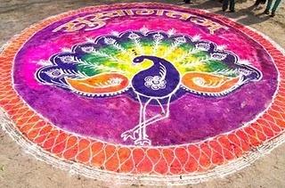 Southern India - Peacock Rangoli