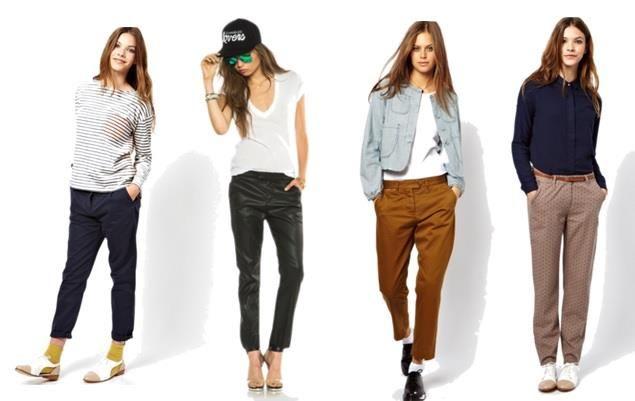 Женские джинсы чинос