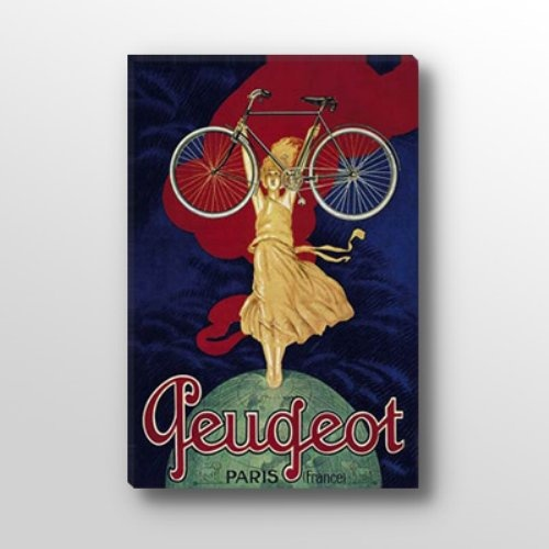 Find it at the Foundary - 27 x 19 in. Peugeot Bicycle Advertising Vintage Canvas Print