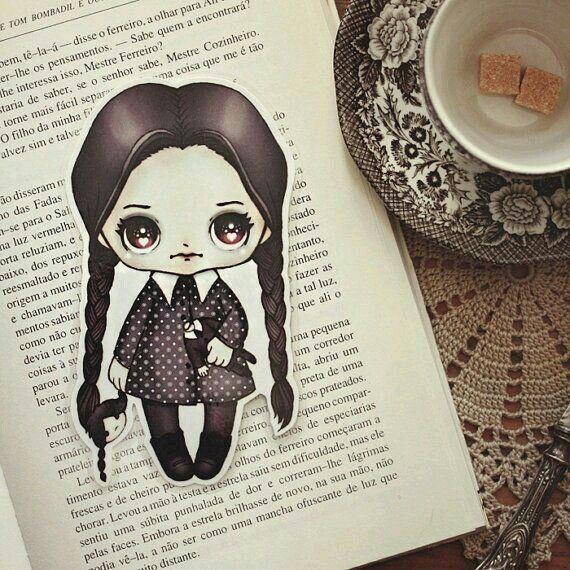 Wednesday Addams-Bookmark by Ribonitachocolat