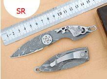 Gratis winkelen outdoor zelf- verdediging mes survival mes vouwen mes zakmes tool sleutelhanger mini echte pure handmatige sabel(China (Mainland))