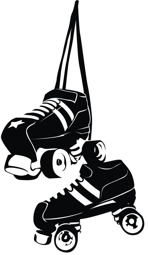 roller derby illustration - Google-haku