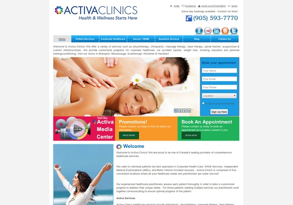 Activa Clinics,  490 Bramalea Road #301,  Brampton, ON L6T 0G1,  (905) 791-7911
