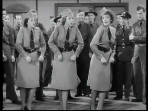 "Andrews Sisters' ""Boogie Woogie Bugle Boy Of Company B""  From the 1941 Abbott and Costello film, ""Buck Privates."""