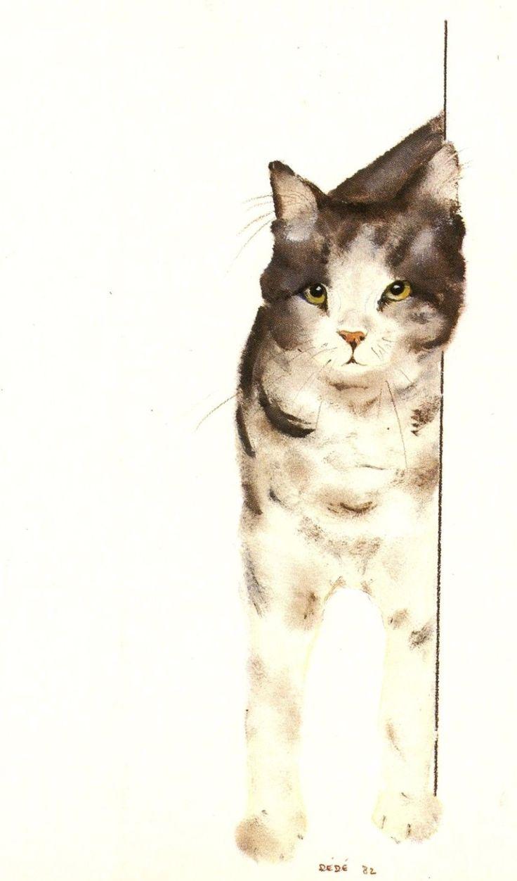 """Our cat"" (1982) by Swiss artist Dédé Moser"