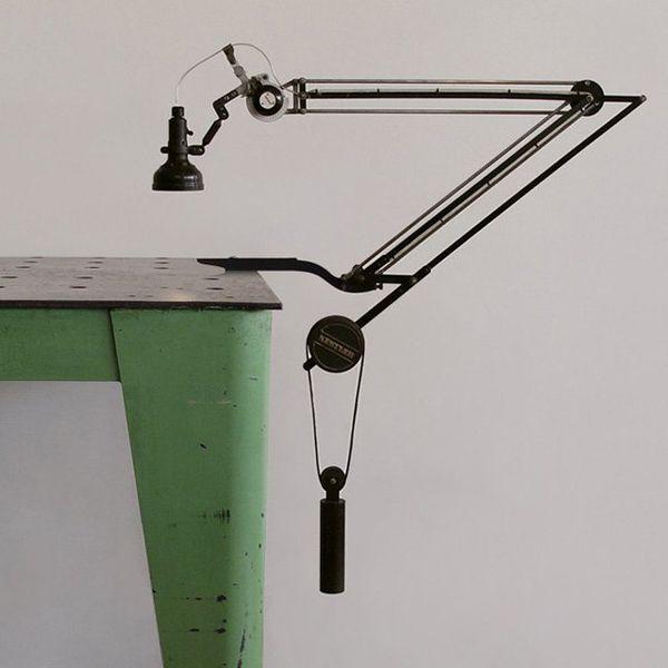 arm lighting industries iran. black swing arm clamp lamp on vintage green steel desk lighting industries iran