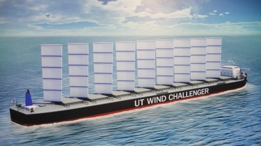 Cargo Ships with sails - 30% less fuel.    AWESOME!