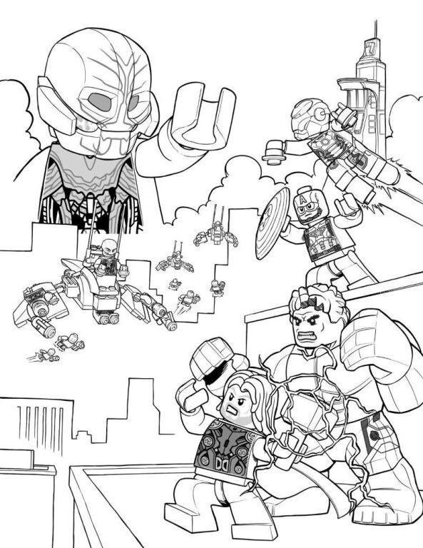 Coloriage Lego Avengers