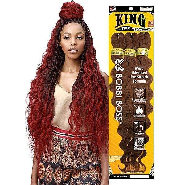 Bobbi Boss Synthetic Pre Feathered Braid 3x King Tips Body Wave