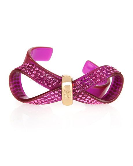 PHEBE - Crystal bow cuff - Fuchsia | Womens | Ted Baker UK