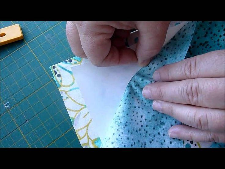 Cirkler af patchwork stof i to lag - HANNES Patchwork