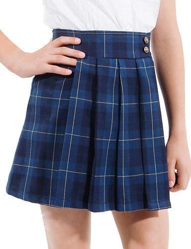 azul tattersall oscuro falda plisada uniformes escolares de las niñas - EUR € 24.99
