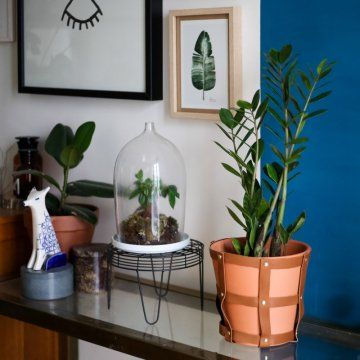 DIY déco : un cache-pot en cuir au style scandinave / Home DIY : leather flowerpot scandinavian style