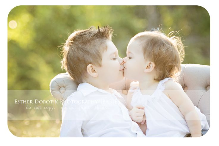 baby photography, child photography, field, family photography, sweet kissing babies