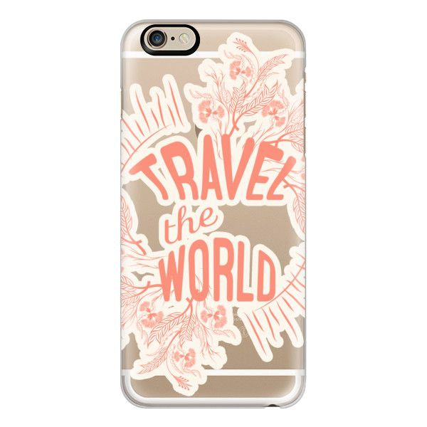 iPhone 6 Plus/6/5/5s/5c Case - Travel the World- Frosty ($40) ❤ liked on Polyvore featuring accessories, tech accessories, phone cases, phones, cases, iphone case, apple iphone cases, slim iphone case and iphone cover case
