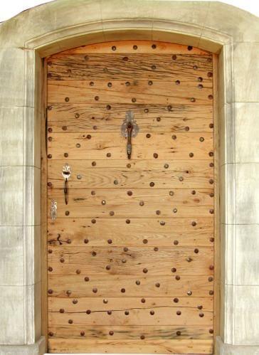 Porte Donjon Vieux chêne. Portes d'entree .