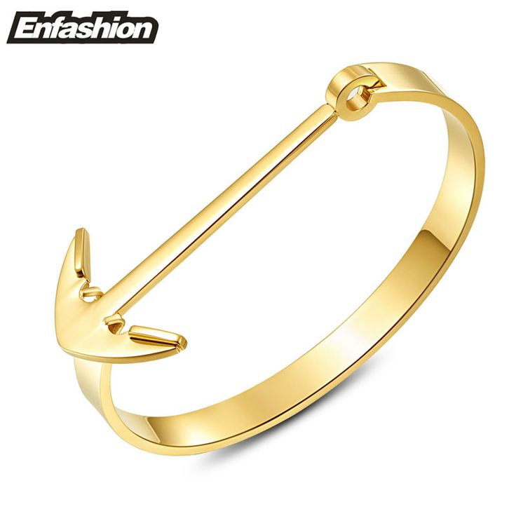 Enfashion Anchor Bracelet Noeud Armband Gold Bangle Stainless Steel Bracelet For Women Cuff Bracelets Bangles Pulseiras