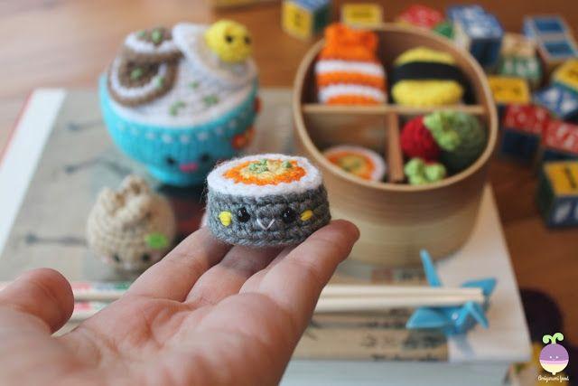 Amigurumi Food Sushi : Amigurumi Food: New Crochet Pattern! Bento Family / Sushi ...