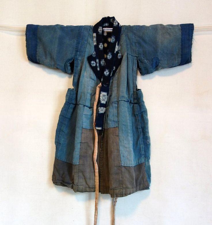 Japanese Vintage Textile Child's Boro Kimono