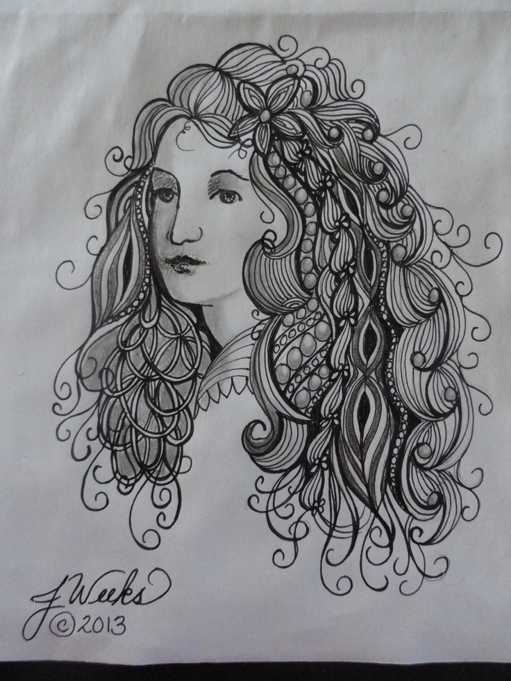 style and dress hair zentangle